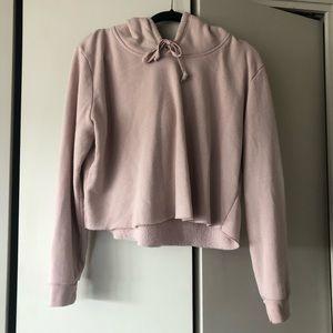 Brandy Melville's Cropped Pink Sweatshirt